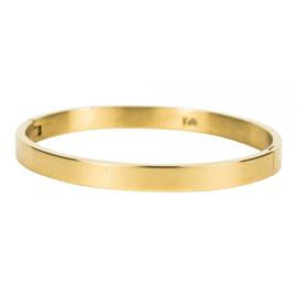 Armband mat M goud 6 mm/ 58 mm