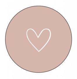 Onderzetter hart roze, Label-R