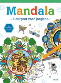 Mandala kleurpret voor jongens