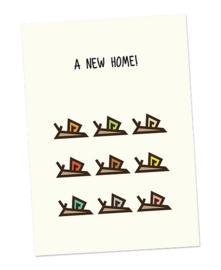 Kaart slakken A NEW HOME, CUBY