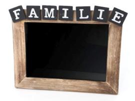 Fotolijstje FAMILIE, naturel