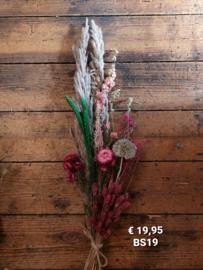 Droogboeket Pink/green combination (BS19)