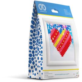Diamond Dotz hart 7,6 x 7,6 cm