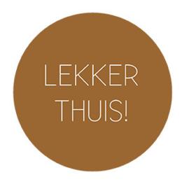 Onderzetter LEKKER THUIS hazel bruin, Label-R