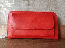 Portemonnee met voorvak, rood  ZAZA'Z