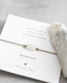 Armband met edelsteen; Moonstone, A Beautiful story