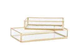 Glazen opbergbox, set van twee, Madam Stoltz