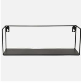 Wandplank, zwart, metaal