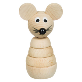 Stapelfiguur, houten muis