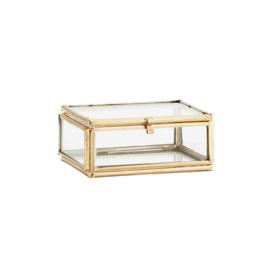 Glazen opbergbox, klein. Madam Stoltz