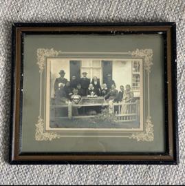 Oude lijst met familie portret
