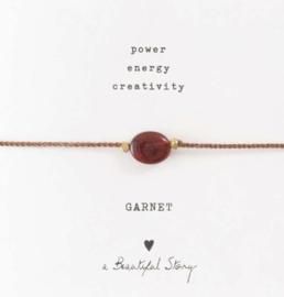 Armband met edelsteen; Garnet, A Beautiful story