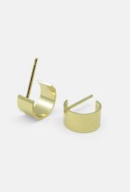 Curved earrings, vermeil, Studio MHL