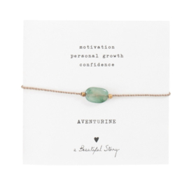 Armband met edelsteen; Aventurine, A Beautiful story