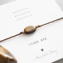 Armband met edelsteen; Tiger Eye, A Beautiful story