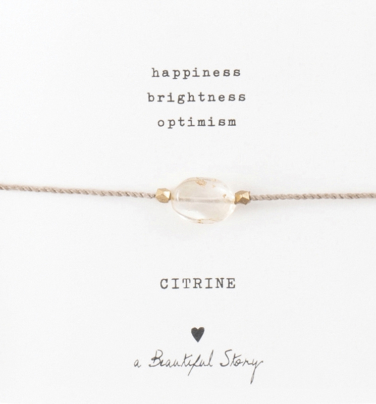 Armband met edelsteen; Citrine, A Beautiful story