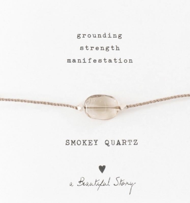Armband met edelsteen; Smokey Quartz, A Beautiful story