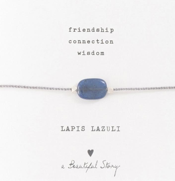 Armband met edelsteen; lapis lazuli, A Beautiful story