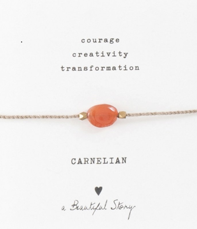 Armband met edelsteen; Carnelian, A Beautiful story