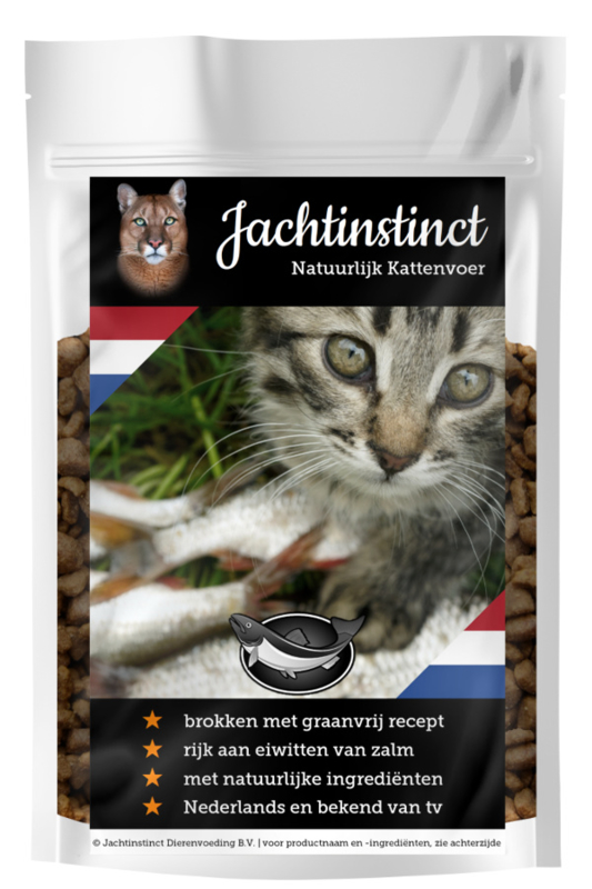 Jachtinstinct Dierenvoeding   Kattenbrokken Zalm Graanvrij