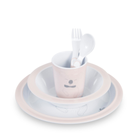 Dinerset Wild Animals Soft Peach