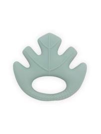 Jollein Bijtring Leaves - Ash Green - 100% natuurlijk rubber