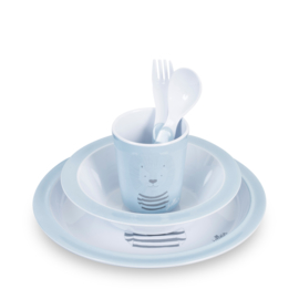 Jollein Dinerset Wild Animals Blue