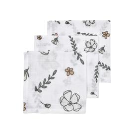 Meyco Baby Biologisch Hydrofiele Monddoekjes 3pack Floral