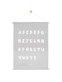 Poster ABC 42x60 cm soft grey