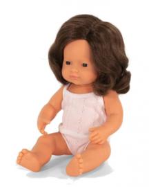 Miniland babypop brunette meisje 38 cm