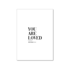 Wenskaart you are loved