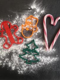Setje koekstekers Kerst   3 stuks