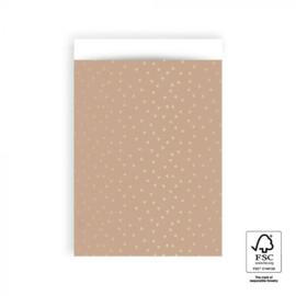 Kadozakjes L Gold Foil Hearts - Pink  - 5 stuks