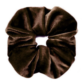Scrunchies haarelastiek velvet Dark brown
