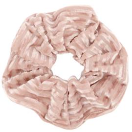 Scrunchie velvet oud roze