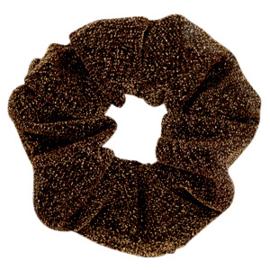 KERST EDITIE Scrunchie glitter golden Brown