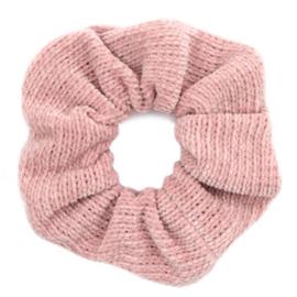 Roze rib scrunchie