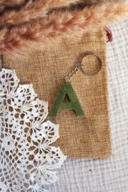 Sleutelhanger letter 1 kleur