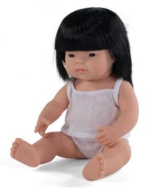 Miniland babypop Aziatisch meisje 38 cm