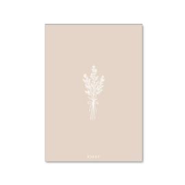 Wenskaartje plantje (roze)
