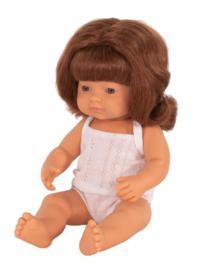 Miniland babypop meisje 38 cm Rossig met sproetjes