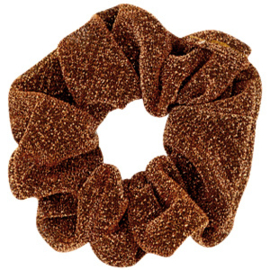 KERST EDITIE Scrunchie glitter copper Brown