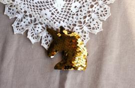 Losse eenhoorn hanger goud
