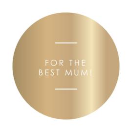 Stickers 'for the best mum'   10 stuks