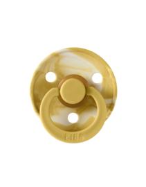 Bibs speentje Tie Dye mustard Ivory 2 stuks 0-6 M