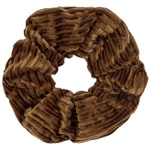 Scrunchies haarelastiek velvet brown