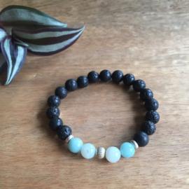 Amazoniet  (lichtblauw) armband 8mm