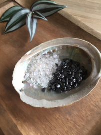 Mineralen oplaad-/ontlaadset (Hematiet / Bergkristal)