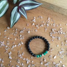 Amazoniet (turquoise) + zilver armband kids