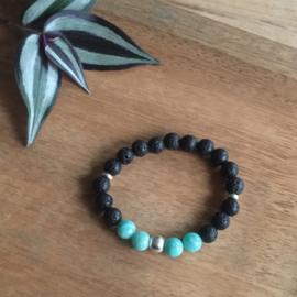 Amazoniet turquoise armband 8mm